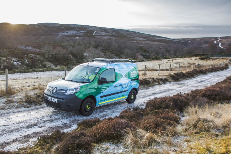 37b6be962c Scottish Water chooses the Renault Kangoo Z.E. 33 for its first-ever ...